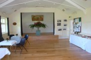 Village Hall set up for the tea party